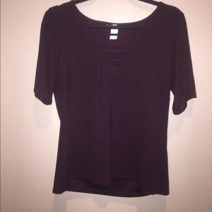 H&M maroon short sleeve top
